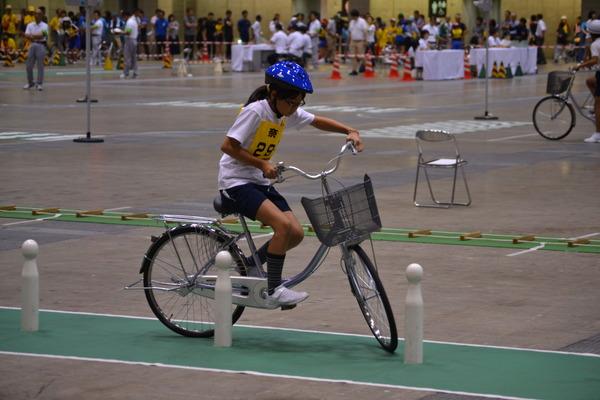 交通安全子供自転車全国大会で河合第三小学校が10位
