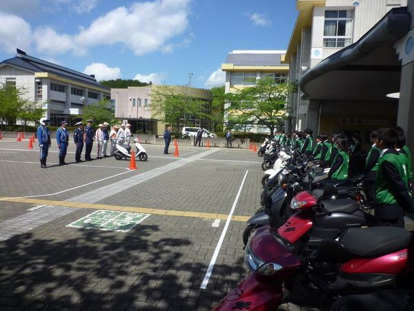 五條高校生を対象として「ミニバイク実技講習会」を開催しました