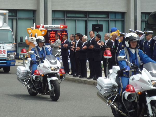 春の交通安全県民運動の出発式
